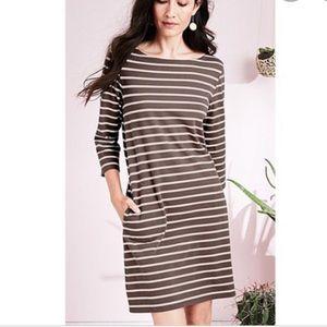 Stripe Cotton Dress- Garnet Hill